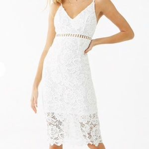 Women's Embroidered Floral Lace Dress Forever 21